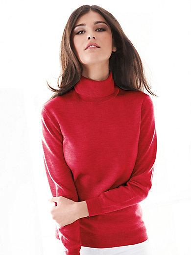 0a902e633e608 Peter Hahn - Le pull 100% laine vierge - rouge