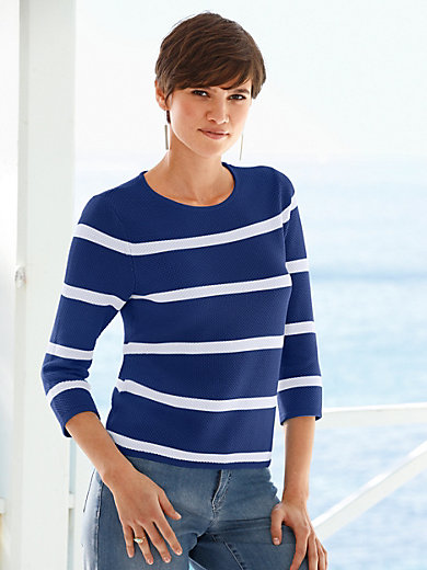 Peter Hahn - Le pull rayé manches 3/4 100% coton
