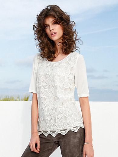 Peter Hahn - Le T-shirt chemisier en pure soie, manches courtes