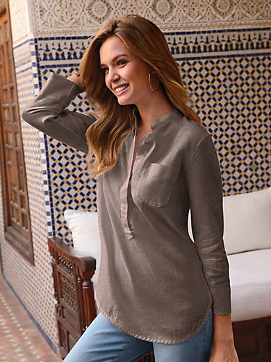 Peter Hahn - Long blouse in 100% linen