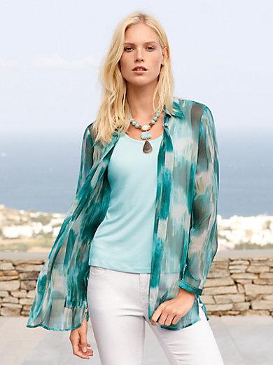 Peter Hahn - Long blouse in 100% silk