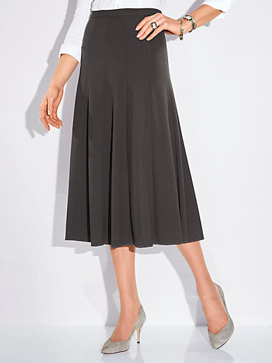 Peter Hahn - Long panel skirt with swinging hem