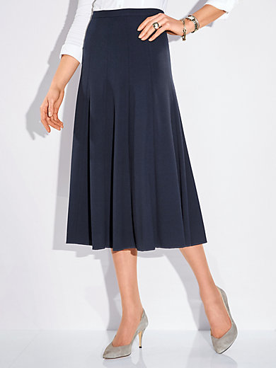 Peter Hahn - Long panel skirt with swinging hem