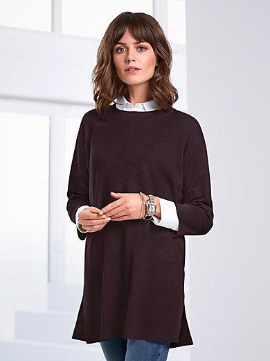 Peter Hahn - Long-Pullover aus 100% Schurwolle von Biella Yarn