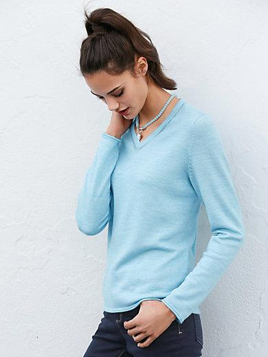 Peter Hahn - Long-sleeved V neck pullover