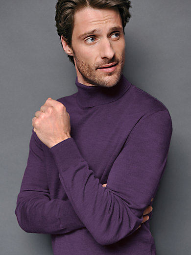 Peter Hahn - Polo neck jumper in 100% new milled wool