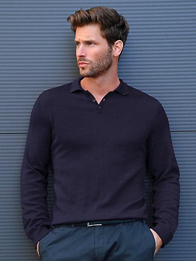 Peter Hahn - Polo neck pullover in 100% Pima cotton