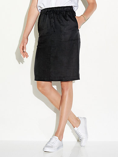 Pull-on skirt in 100% linen Peter Hahn white Peter Hahn Clearance Low Price Fee Shipping 9lA60