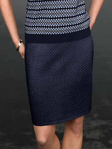 Peter Hahn - Pull-on skirt with knitted honeycomb pattern