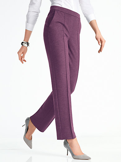 Pull-on trousers Peter Hahn purple Peter Hahn YkHcc9P6O