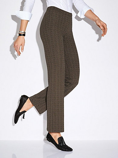 Peter Hahn - Pull-on tweed trousers Barbara fit