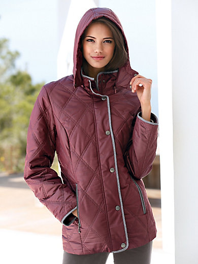 Peter Hahn Quilted Jacket Burgundy