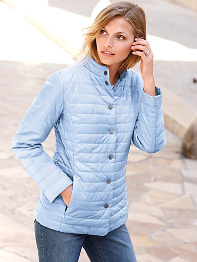 Peter Hahn - Quilted jacket with stand-up collar