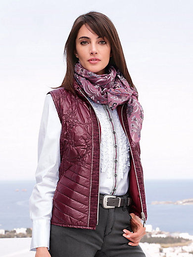Peter Hahn - Quilted waistcoat with stand-up collar