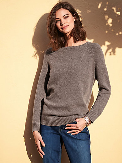 Peter Hahn - Round neck jumper in 100% yak wool