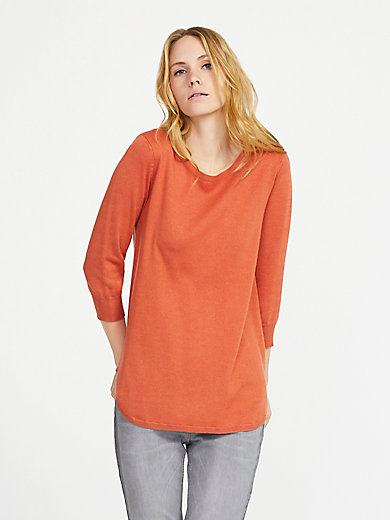 Peter Hahn - Round neck jumper in silk and cashmere