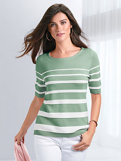 Peter Hahn - Round neck jumper with 1/2-length sleeves
