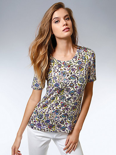 Peter Hahn - Round neck top with 1/2-length sleeves
