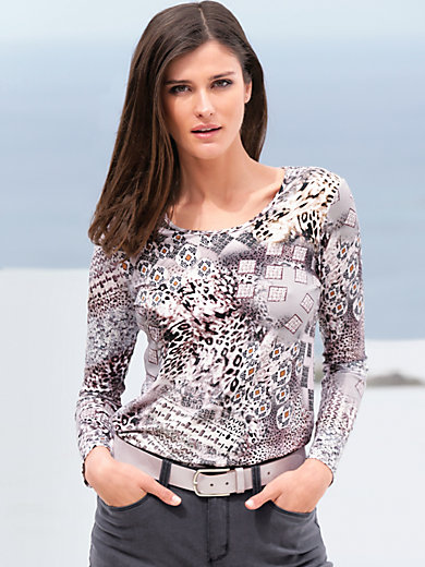 Peter Hahn - Round neck top with graphic details