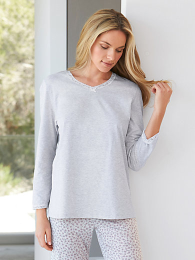 Peter Hahn - Shirt mit V-Ausschnitt aus 100% Baumwolle