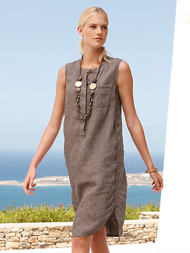 Peter Hahn - Sleeveless dress in 100% linen
