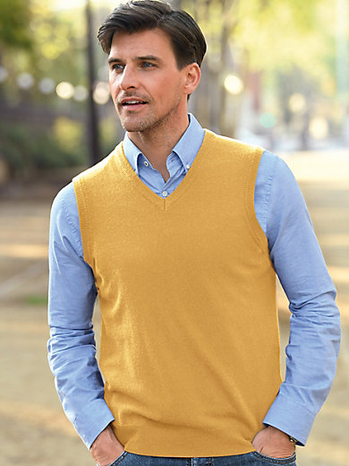 Peter Hahn - Sleeveless jumper in 100% new milled wool