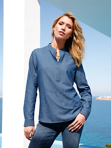 Peter Hahn - Slip-on denim blouse