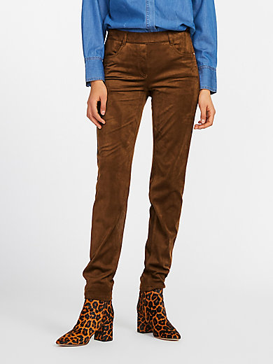 Peter Hahn - Slip-on trousers in suede look