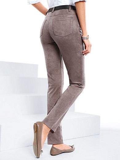 Peter Hahn - Slip-on trousers in suede look