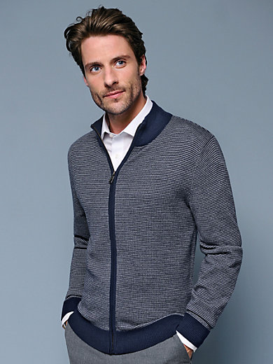 Peter Hahn - Strickjacke in 100% Merino-Schurwolle