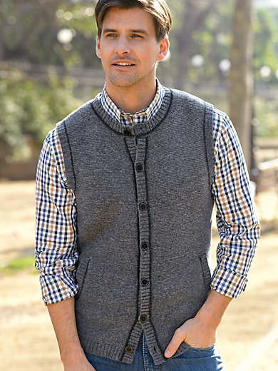 Peter Hahn - Strikvest i 100% ren ny uld