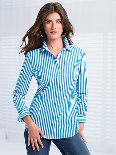 Peter Hahn - Striped blouse with long sleeves