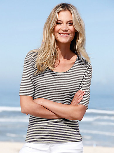 Peter Hahn - Striped top with short sleeves