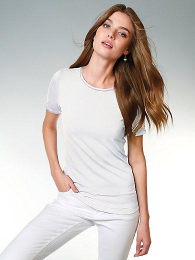 Peter Hahn - T-shirt med rund hals og korte ærmer
