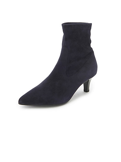 d77c4312d4069 Peter Kaiser - Herdis stretch ankle boots in 100% leather - navy