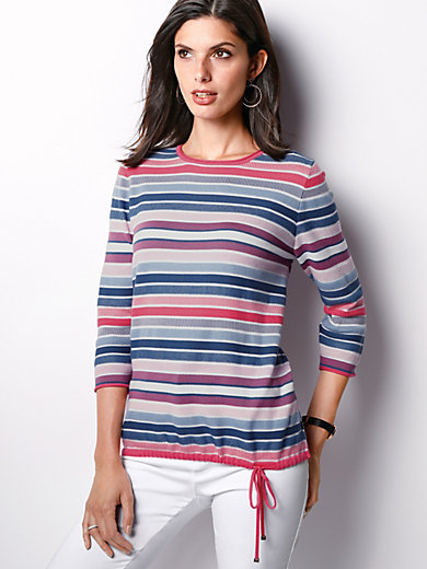 Rabe - Round neck jumper with 3/4-length sleeves