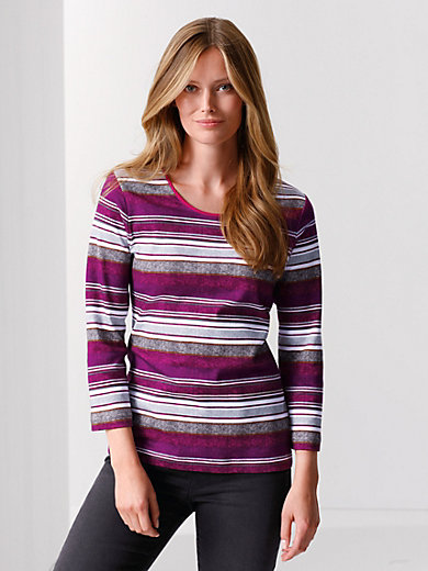 Rabe - Round neck top with 3/4-length sleeves