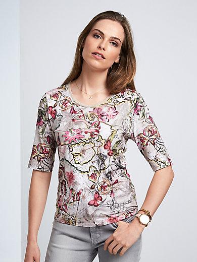 Rabe - Shirt met ronde hals en korte mouwen
