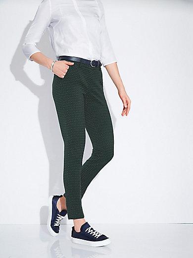 Ankle-length jacquard trousers - Design DORA Raffaello Rossi green Raffaello Rossi 7lXJQzxc