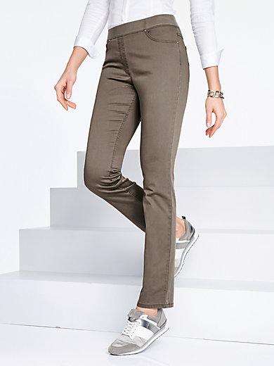 raphaelabrax - le pantalon comfortplus modèle carina - taupe