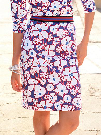 Riani - La jupe droite en coton stretch, imprimé fleuri