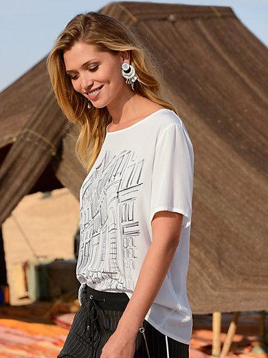 Riani - Le T-shirt chemisier en pure soie, manches courtes