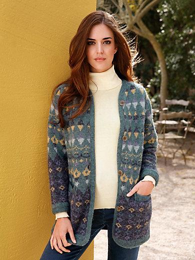 SAGA - La veste en pure laine vierge, jacquard ethnique
