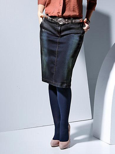 Samoon - Jeansrock mit Längsteilungsnähten