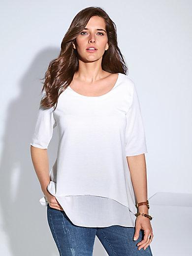 Samoon - Rundhals-Shirt mit langem 1/2-Arm