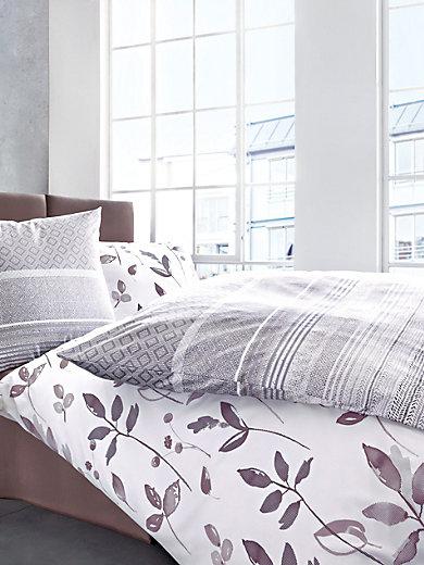 schlafgut la parure de lit 2 pi ces env 135x200cm mauve fonc. Black Bedroom Furniture Sets. Home Design Ideas