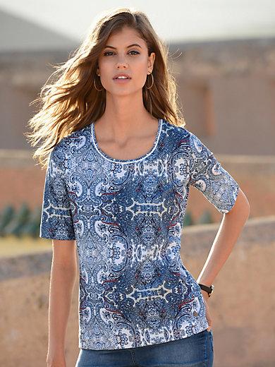 Schneiders Salzburg - Le T-shirt imprimé, manches courtes, décolleté V