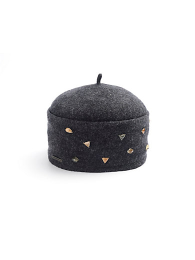 Hat in 100% new milled wool Seeberger black Seeberger Xg49dzV