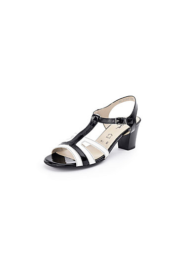 Sioux - Two-tone patent calfskin leather sandals