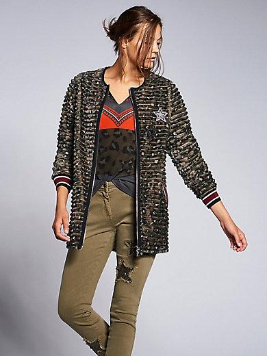 Sportalm Kitzbühel - Jacke aus bedrucktem Plüsch